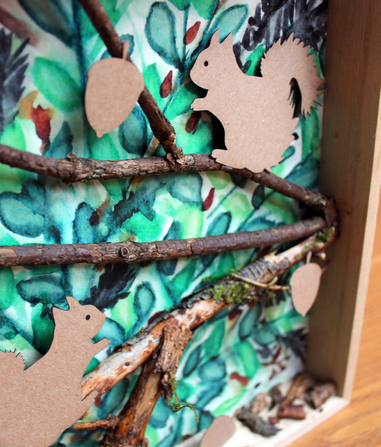 3d bild mit eichhörnchen geburtstagsgeschenk